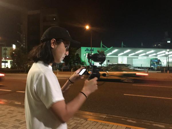 撮影に利用したOsmo Proは強力なジンバル性能を備え、MFTレンズを利用できるカメラ。