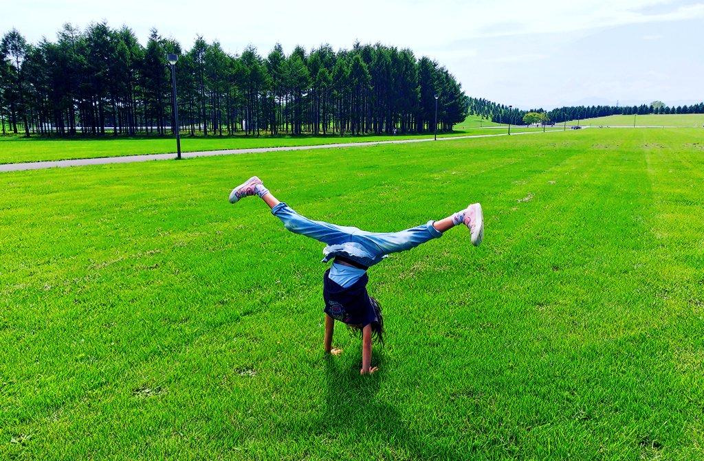 「芝生にタッチ」SHV39
