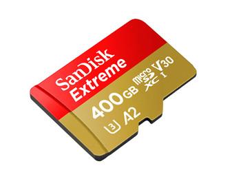 400GBという超大容量のmicroSD。このサイズに400GBも入るのがすごい