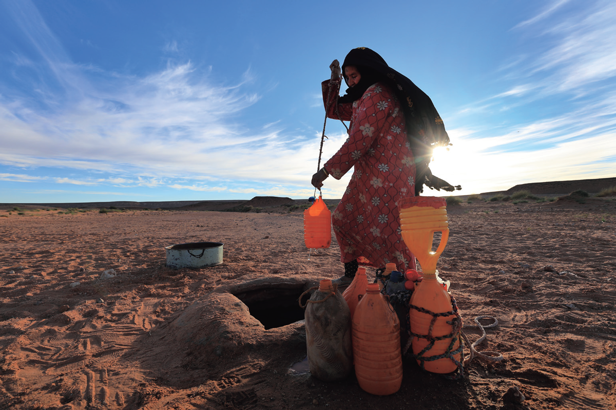 モロッコ・サハラ砂漠の遊牧民