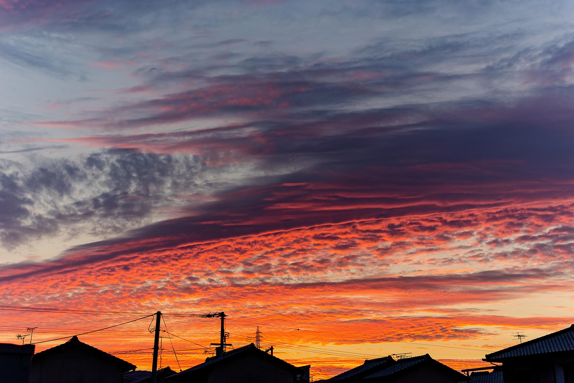 「家から見えた夕焼け」EOS R6